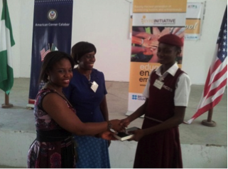 Ann Mesembe at a YLEAD prgram for Students