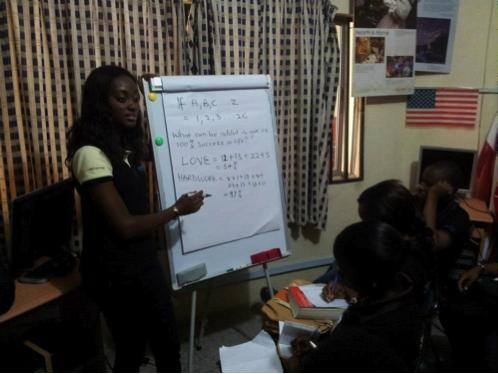 Grace Ihejiamaizu training